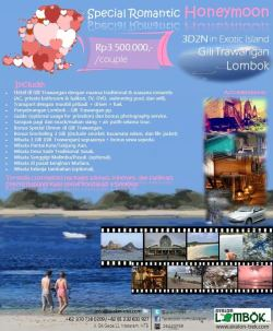 3D2N Special Romantic Honeymoon at Gili Trawangan Lombok